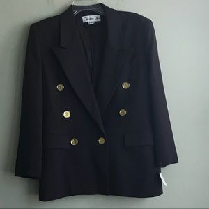 Christian Dior Brown Blazer Size 8 Petite